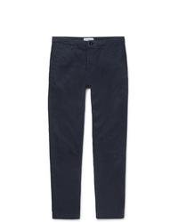 Mr P. Straight Leg Navy Gart Dyed Cotton Twill Chinos