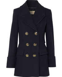Burberry Double Breasted Wool Felt Coat