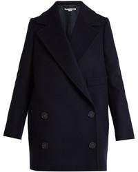 Stella McCartney Edith Double Breasted Wool Blend Coat