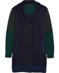 Burberry Prorsum Paneled Wool Blend Coat