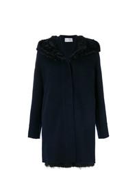 Yves Salomon Raccoon Fur Lamb Fur And Cashmere Hooded Coat