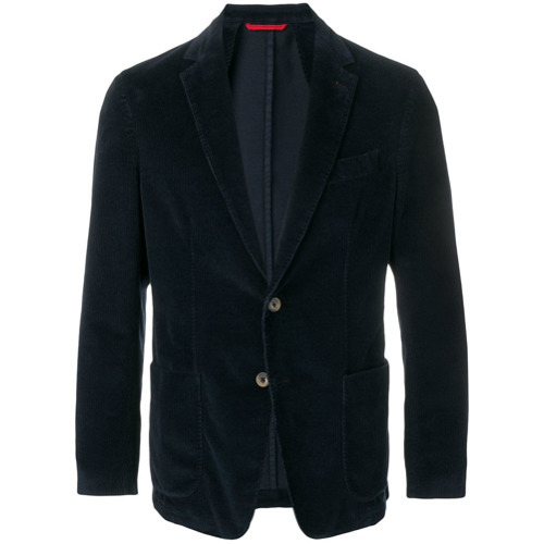 Fay Corduroy Single Breasted Blazer