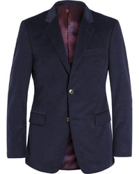 Navy slim fit cotton corduroy blazer medium 329020