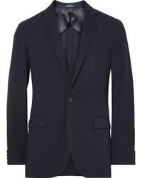 Polo Ralph Lauren Blue Morgan Slim Fit Cotton Blend Jersey Blazer