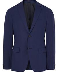 Theory Blue Rodolf Slim Fit Stretch Cotton Blazer