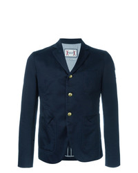 Moncler Gamme Bleu Three Button Blazer Blue