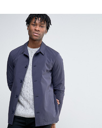 Navy Cotton Shirt Jacket