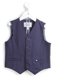 Navy Cotton Waistcoat