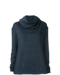 Navy Cowl-neck Sweater