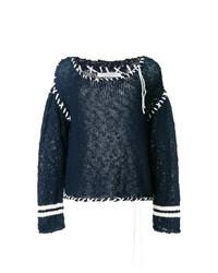 Philosophy di Lorenzo Serafini Contrast Stitch Sweater