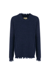 Uma Wang Fringed Crew Neck Jumper