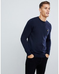 Lyle & Scott Jumper In Cotton In Navy