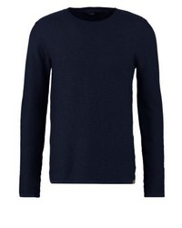Jumper knitted navy medium 3766784