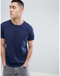 Tommy Jeans Crew Neck T Shirt In Navy