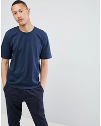 Selected Homme Drop Shoulder T Shirt In Heavy Cotton