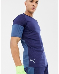 Puma Football Graphic T Shirt In Navy 655783 03
