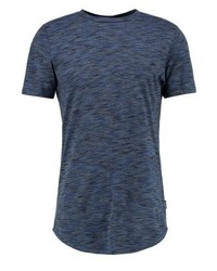 Jjornew slim fit print t shirt ensign blue medium 4162305
