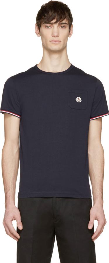... Moncler Moncler Navy Logo Pocket T-Shirt