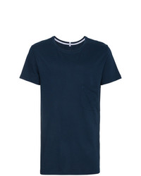 Lot78 Navy Cotton Blend Short Sleeve T Shirt
