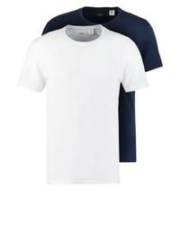Slim Fit 2 Pack Basic T Shirt Navywhite