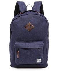 Navy Denim Backpack