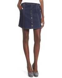 Blank NYC Blanknyc Button Front Denim Skirt