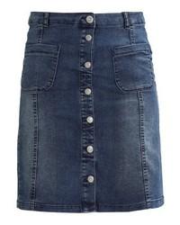 Soyaconcept Denim Skirt Dark Blue Denim
