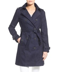 MICHAEL Michael Kors Michl Michl Kors Double Breasted Denim Trench Coat