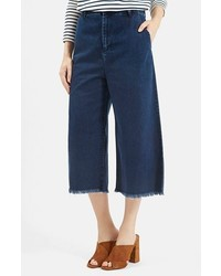 Navy Denim Culottes