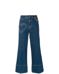 Stella McCartney Stud Detail Cropped Flare Jeans
