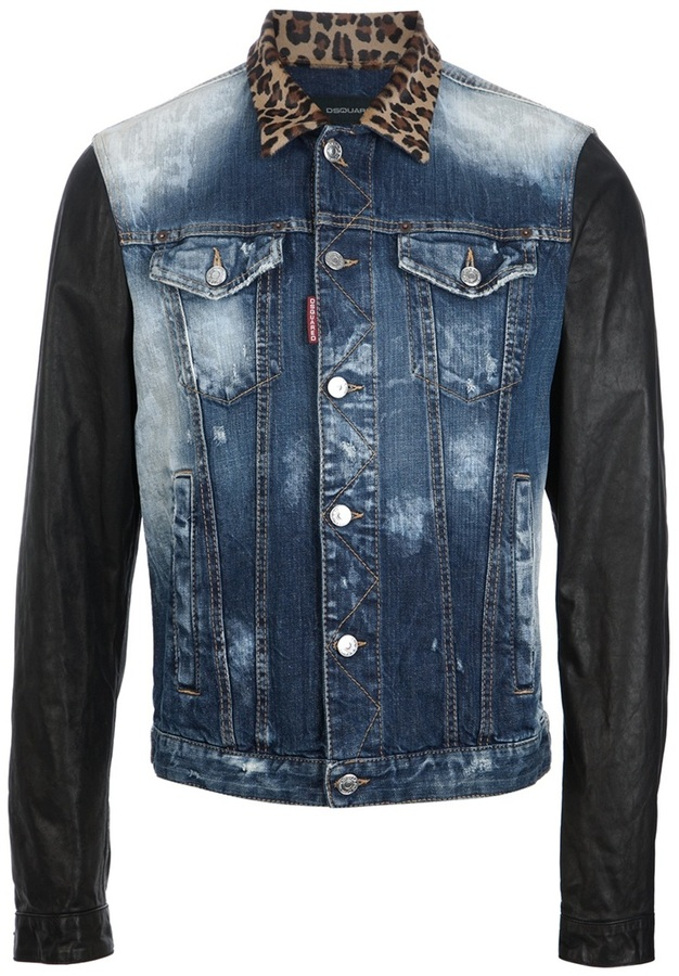 DSquared 2 Leopard Collar Denim Jacket | Where to buy & how to wear