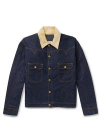 Holiday Boileau Corduroy Trimmed Denim Jacket