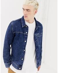 Weekday Core Denim Jacket In Storm Blue