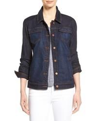 Eileen Fisher Denim Classic Collar Jacket