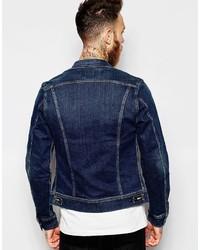 3a35974c Lee Denim Jacket Rider Slim Fit Stretch Favorite Worn Mid Wash, £129 ...