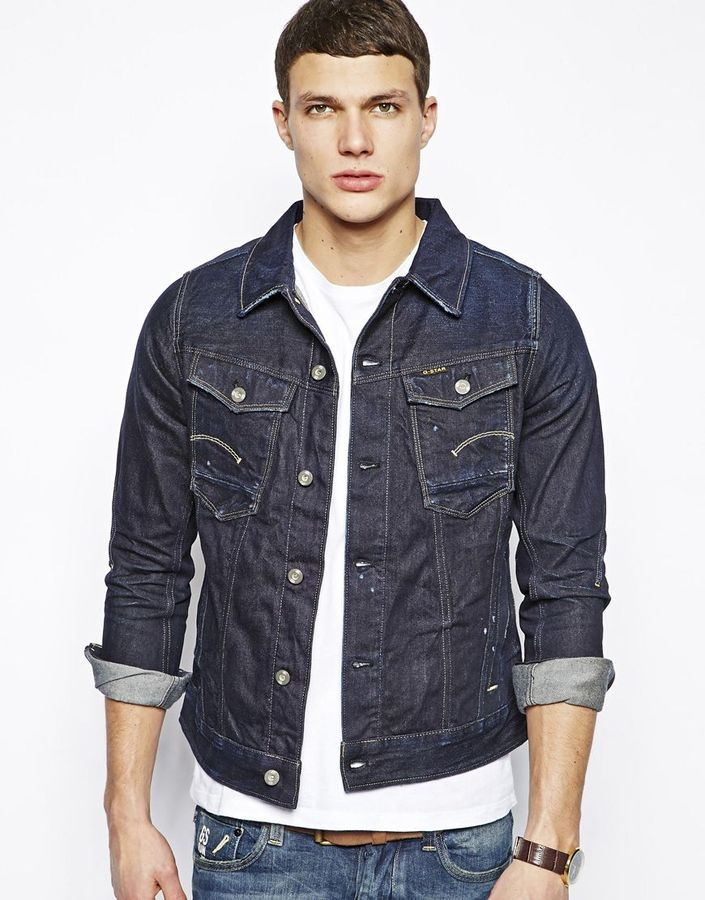 G Star G Star Denim Jacket Dark Aged Navy | Where to buy & how to wear