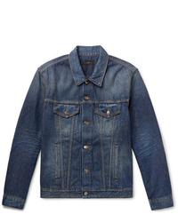 Alanui Intarsia Wool Blend Panelled Denim Jacket