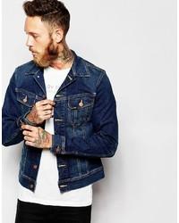 Lee Denim Jacket Rider Slim Fit Stretch Favorite Worn Mid Wash