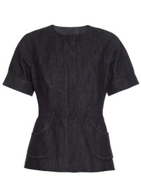 Derek Lam Short Sleeved Denim Jacket