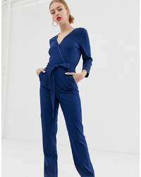 Only Wrap Front Denim Jumpsuit