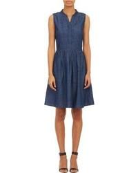 Navy Denim Midi Dress