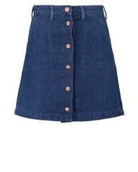 Button through skirt mini skirt just worn rinse medium 3935165