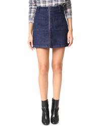 Madewell Denim Zip Miniskirt