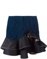 Alexander McQueen Floral Ruffled Mini Skirt