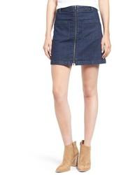 Madewell Front Zip Denim Miniskirt