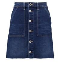 W chara mini skirt blue shredded medium 3904989