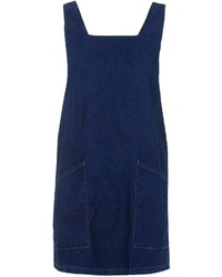 Navy Denim Overall Dress