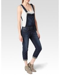 Navy Denim Overalls