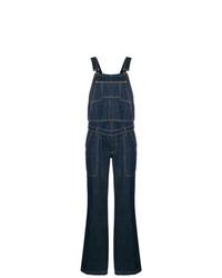Dolce & Gabbana Vintage Stitching Detail Denim Dungarees