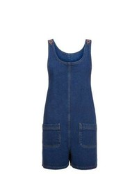 New Look Dark Blue Denim Pinafore Playsuit